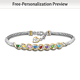 Family Is Forever Personalized Bracelet