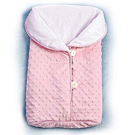 Reversible Fleece Bunting Baby Doll Accessory
