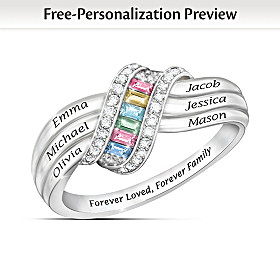 Forever Family Personalized Ring