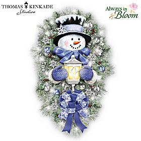 Thomas Kinkade A Warm Winter Welcome Wreath