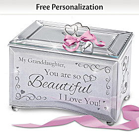 Granddaughter, You Are So Beautiful Personalized Music Box