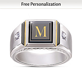 Man Of Distinction Personalized Diamond Ring