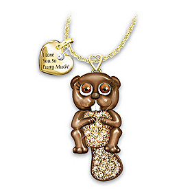 Granddaughter, I Love You So Furry Much Pendant Necklace