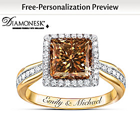 Sweet As Chocolate Personalized Ring