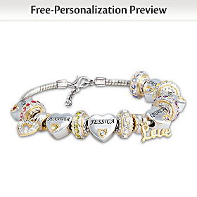 Forever In A Mother's Heart Personalized Bracelet