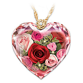 Love Blooms Forever Diamond Pendant Necklace