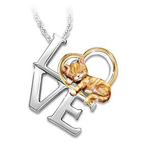 Purr-fect Love Pendant Necklace