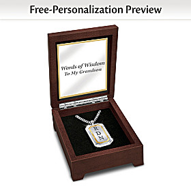 Words Of Wisdom Personalized Pendant Necklace