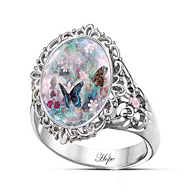 Lena Liu's Butterflies Of Hope Ring