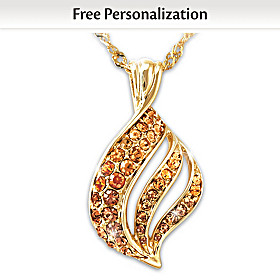 Flame Of Remembrance Personalized Pendant Necklace