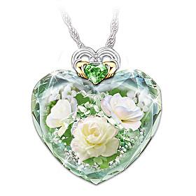 Irish Rose Pendant Necklace