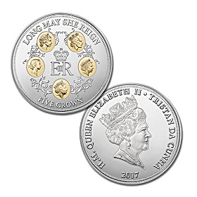 Long May She Reign Five Crowns Coin
