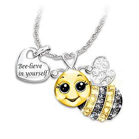 Granddaughter, Always Bee Yourself Pendant Necklace