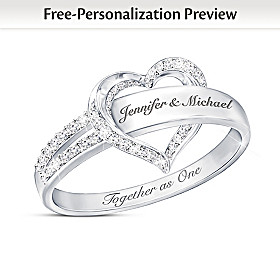 Together As One Personalized Diamond Ring