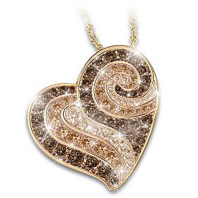Live, Love, Latte Pendant Necklace
