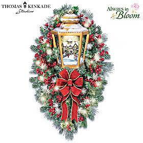 Thomas Kinkade A Happy Homecoming Wreath