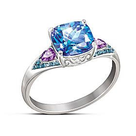 Mystic Fantasy Topaz And Diamond Ring