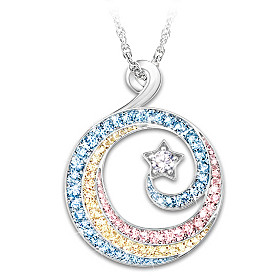 Rainbows And Stars Pendant Necklace