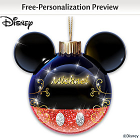 Disney Timeless Memories Personalized Ornament