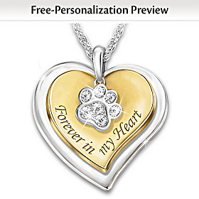 Forever In My Heart Personalized Pendant Necklace