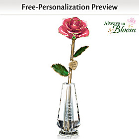 A Mother's Lasting Love Personalized Rose Centrepiece