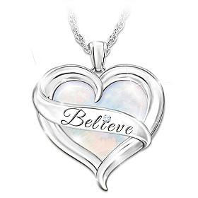 Believe In Yourself Diamond Pendant Necklace