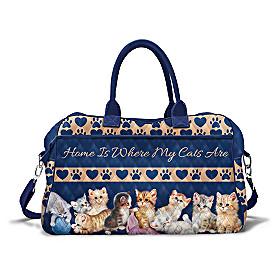 Heart And Home Kittens Weekender Bag