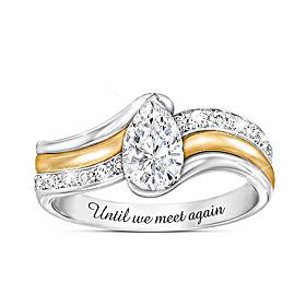 Remember Me White Topaz And Diamond Ring