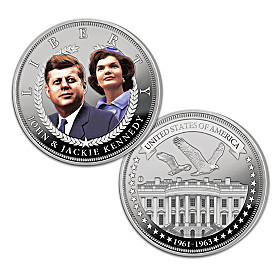The JFK & Jackie Days Of Camelot Silver Tribute Coin