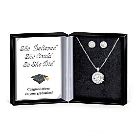 Top Of The Class Pendant And Earrings Set