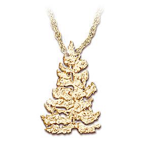 Golden Spruce Pendant Necklace