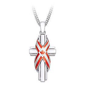 God Bless Canada Pendant Necklace