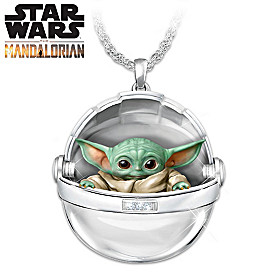 Cutest Child In The Galaxy Hover Pram Pendant Necklace