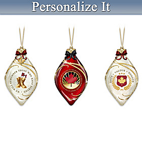 We Will Remember Personalized Ornament Set