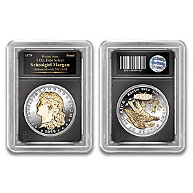 The 24K Gold Enhanced Schoolgirl Morgan Proof Coin