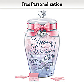 Heartfelt Wishes For My Daughter Personalized Wish Jar