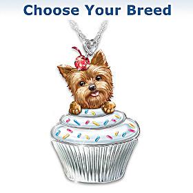Sweetest Pupcake Pendant Necklace