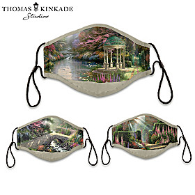 Thomas Kinkade Gardens Of Paradise Face Mask Set