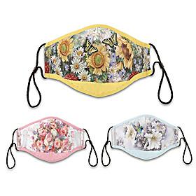 Floral Splendor Face Mask Set