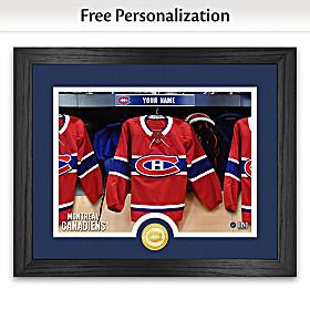 Canadiens® Locker Room Personalized Wall Decor