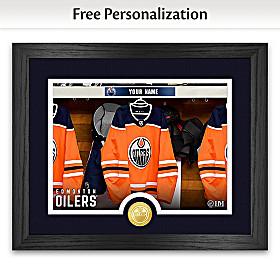 Oilers® Locker Room Personalized Wall Decor