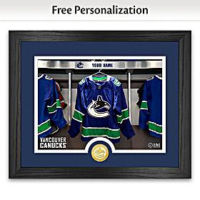 Canucks® Locker Room Personalized Wall Decor