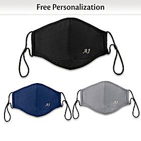 Monogram Personalized Face Mask Set