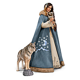 Maiden Of The Wolf Moon Portrait Doll