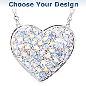 Brilliant Facets Of Love Pendant Necklace