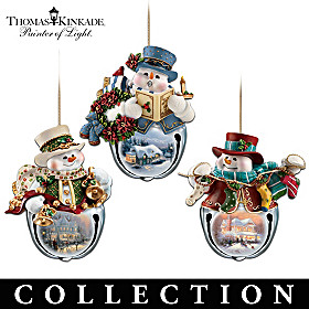 Thomas Kinkade Snow-Bell Ornament Collection