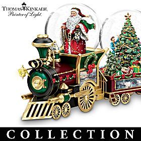Thomas Kinkade Wonderland Express Snowglobe Collection
