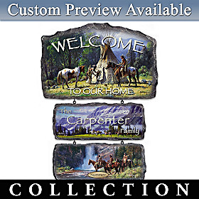 Sacred Seasons Personalized Welcome Sign Collection