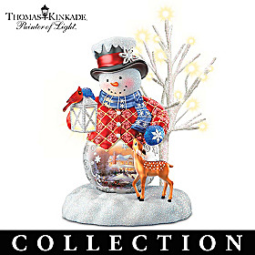 Thomas Kinkade Snow Wonderful Figurine Collection