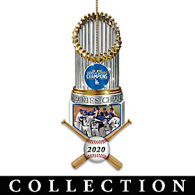 World Series Champions Dodgers Trophy Ornament Collection